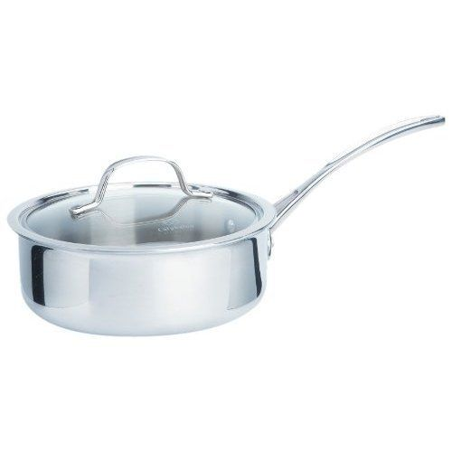 Calphalon Tri-Ply Stainless 2.5 Qt. Shallow Sauce Pan 1767957 by Calphalon. $58.95. What a nice reflection on you when a delicate Béarnaise, meaty marinara or rich, flavorful demi-glace comes out perfect. The reflective interior of the Tri-Ply Stainless sauce pan is ideally suited to candy-making, consommés and clear sauces�as we...