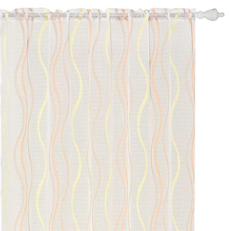 MSA0710 Orange Rod Pocket Sheer Curtain