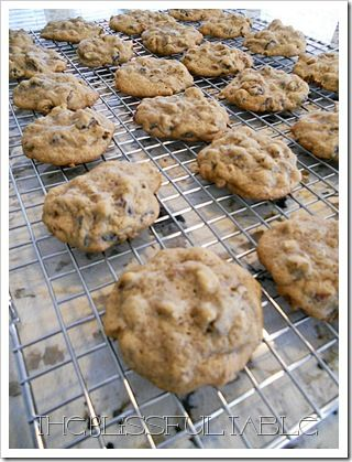 Hermit Cookies  ..... sooo good.  I put the batter in the fridge for about 10-15 min so the dough gets a little hard.  I find that cookies come out softer and chewier this way. ~R