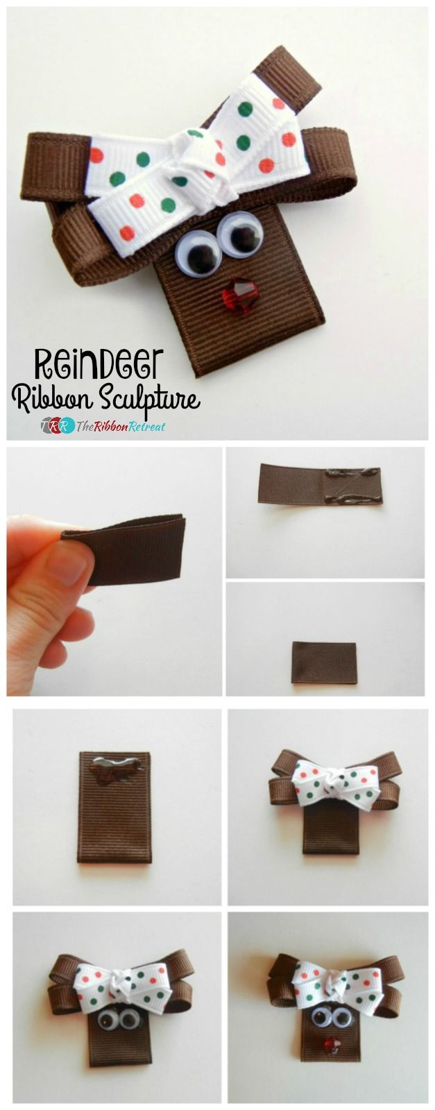 Reindeer Ribbon Sculpture - The Ribbon Retreat Blog