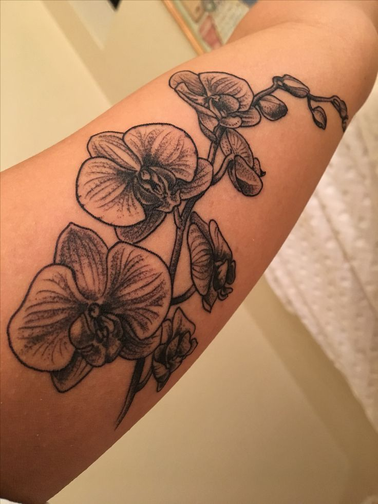 @themariaisabella orchid tattoo by Woodrow Robinson in Santa Cruz
