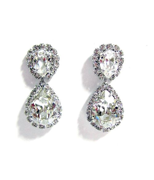 Ti Adoro-Swarovski Teardrop Earrings -- a classic. $115