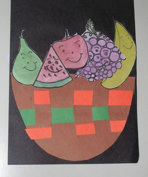 Cain and Abel - good fruit/bad fruit basket craft