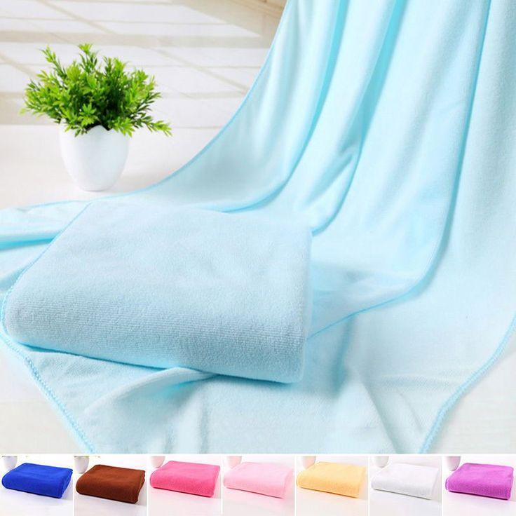 ly Absorbent Microfiber Beach Towel Drying Bath Washcloth Swimming Towels