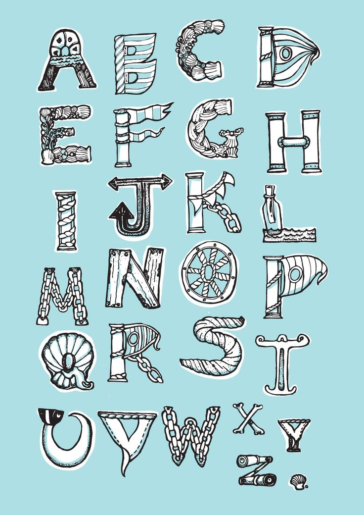 ~Zee-thema alfabet~