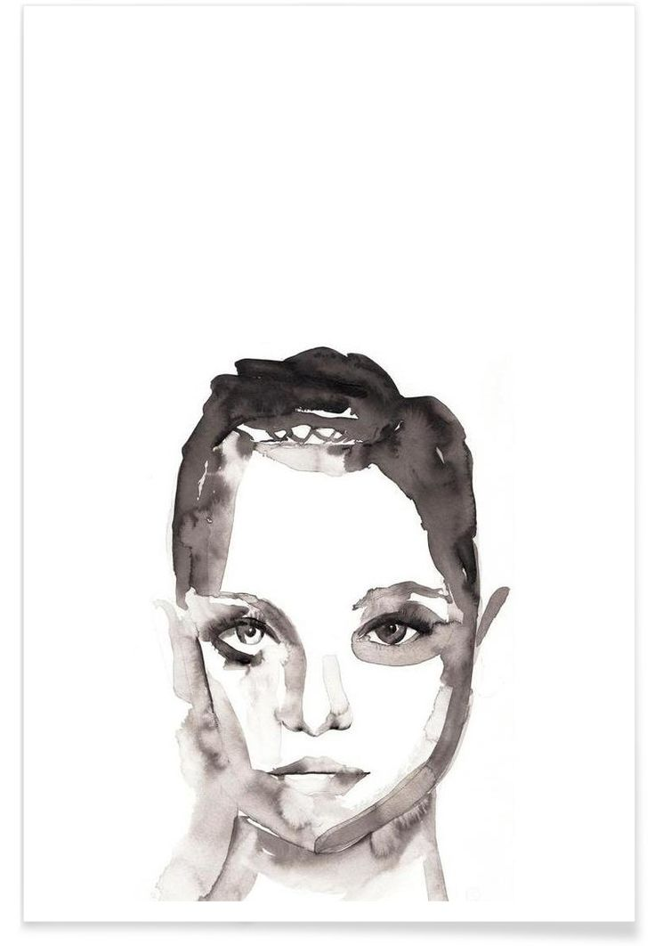 Girl Illustration. YOU CAN WHISTLE FIRST Art Print by Victoria Verbaan now on Juniqe.com | Art. Everywhere.