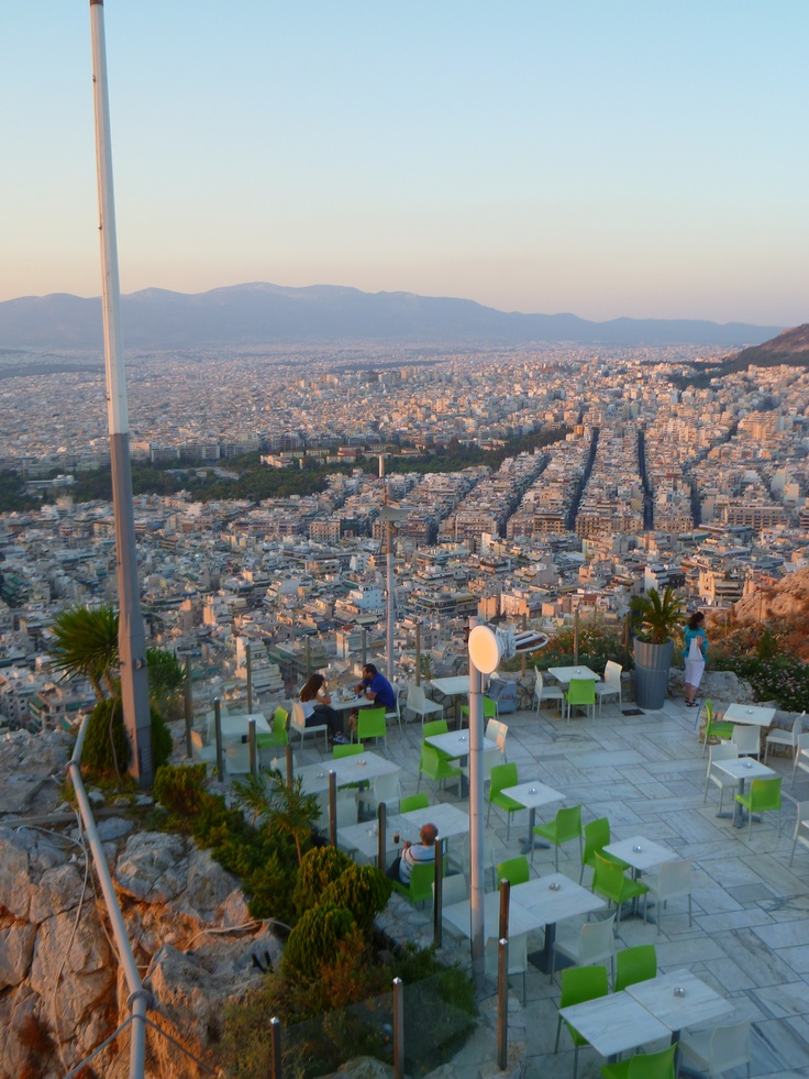 View onto Athens from Lycabettus Hill. City is Yours: http://www.cityisyours.com/explore.Discover and collect amazing bucket lists created by local experts.