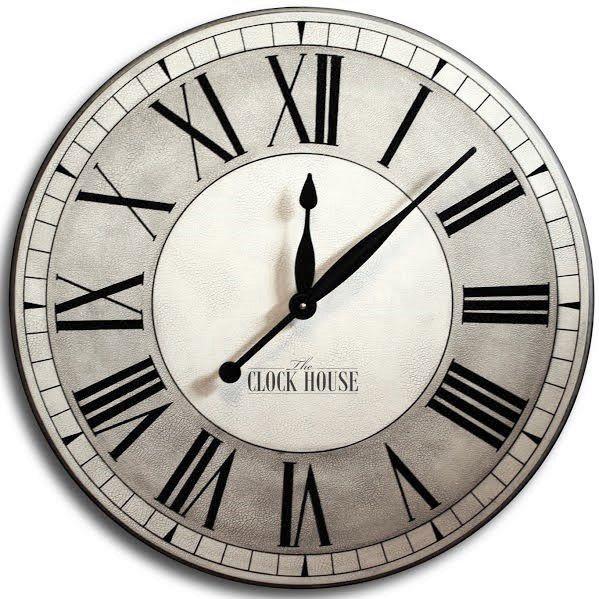 Oxnard Linen Clock Clock Extra Large Wall Clock Broken Clock