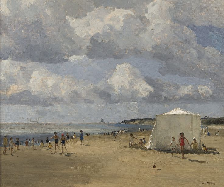 https://flic.kr/p/TmQ65S | Campbell Archibald Mellon - Summer Days | Campbell Archibald Mellon was born in Berkshire on June 16, 1878. He married and settled in Nottingham in 1903 and remained there until he died in Gorleston on August 28, 1955. He only started painting following his move to Nottingham. Mellon studied under Carl Brenner, nephew of Benjamin Williams Leader amongst other artists. After his arrival in Norfolk he studied under Sir John Alfred Arnesby Brown. Although Mellon's…