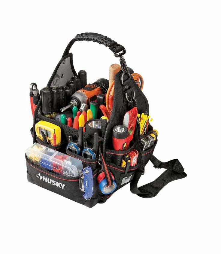64.78  10 Inch Electrician Bag With Driver Wall