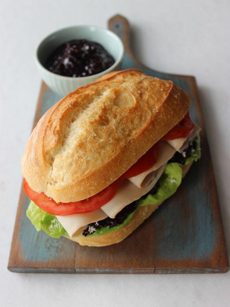 Roasted Turkey Sandwich With Blueberry Chutney | Recipe | Sandwiches ...
