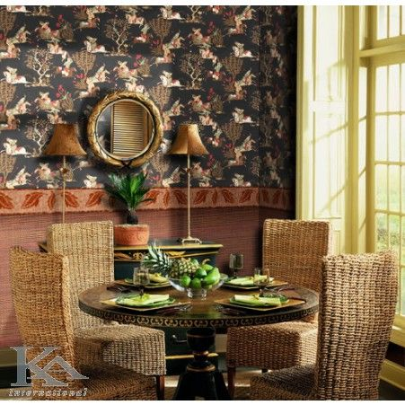 Poti simti gustul verii chiar in propriul living. Oriental Wallpaper. Chair.