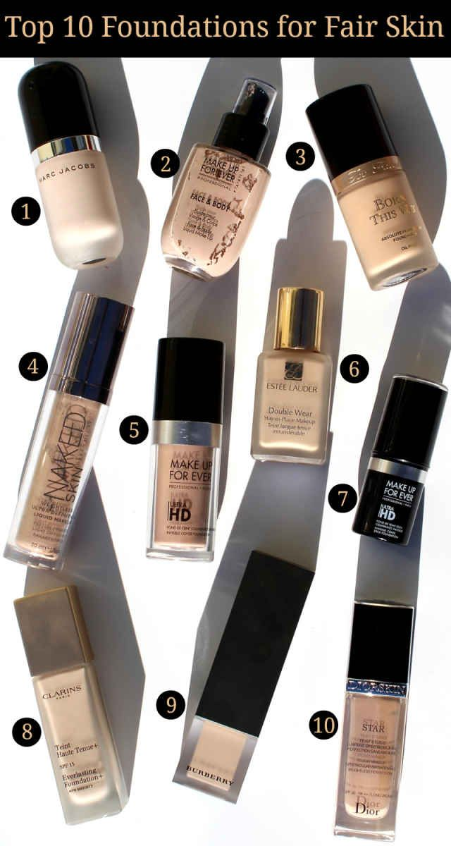 This week the Beauty Blogger Top Ten Team is sharing our recommendations for Top 10 Foundations. Of course I had to select my favorite foundation formulas, offering a variety of coverage levels, that have options for pale skin tones in my Top 10 Foundations for Fair Skin.Marc Jacobs Re(marc)able Full Cover Foundation Concentrate in 10 Ivory Light - It is not often I come across a foundation shade that is too pale for me so if you are super pale you will love Re(marc)able in Ivory Light. ..