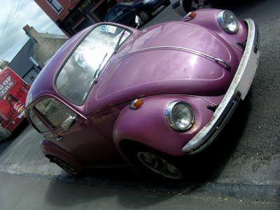 purple things: purple vintage Volkswagen