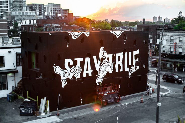 Stay True! An epic mural by Ben Johnston for the new Drake General Store.   #Toronto #art