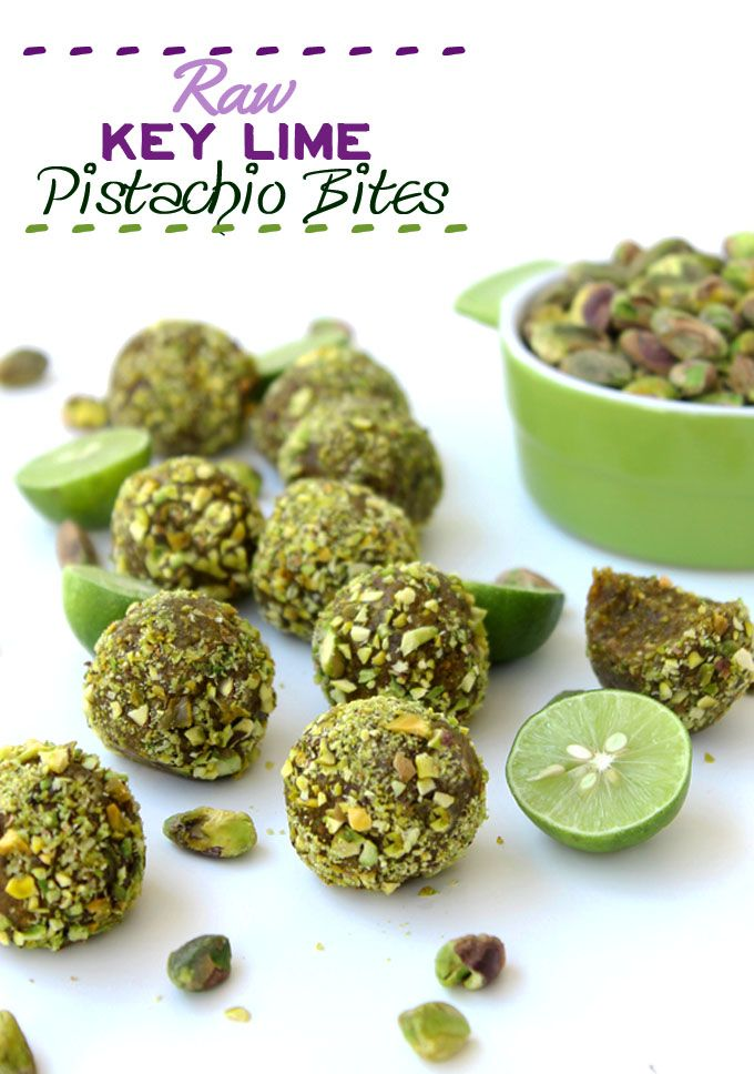 Key Lime Pistachio Bites: impossible to eat just one...I dare you to try (raw, vegan).