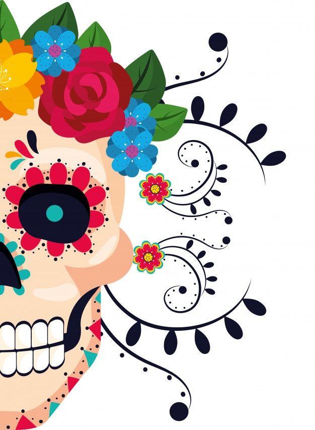 Dibujos Animados De La Cultura Mexicana Premium Vector Freepik Vector Vinta Dibujo Dia De Muertos Calaveras Mexicanas Dibujos Dia De Muertos Wallpaper