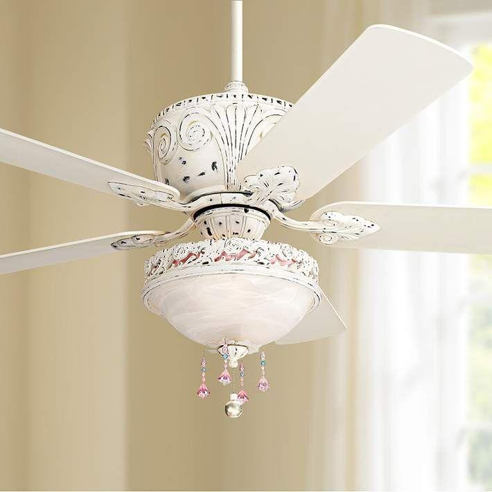 52 Casa Deville Antique White Light Kit Ceiling Fan 11h21 Lamps Plus Ceiling Fan With Light Fancy Ceiling Fan Antique Ceiling Fans