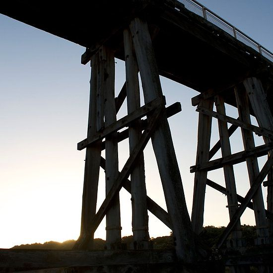 Bridge #7 Photograph by Clancefncypants. Old Kilcunda train bridge by sunset. Kilcunda, Vic, Australia.