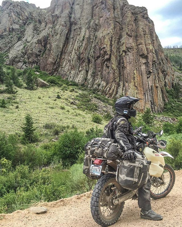 Another one of my favorite shots from 2016! This rock formation is part of what's called Hell Gate (Hell Gap) in Pitkin County, Colorado. Originally part of the Midland Railway route to Leadville, now it's just an awe inspiring spot on a dirt road in the middle of nowhere. #KTM #ADVKTM #KTM690 #ReadyToRace