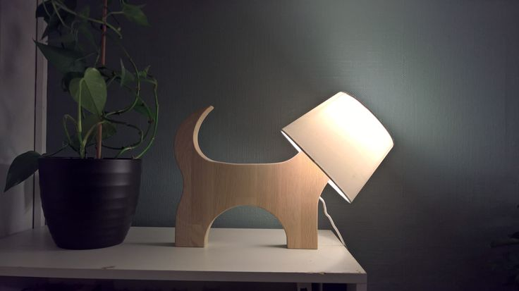 Doggy light - made from oak scrapwood. Idea found from Pinterest, with my own touch.