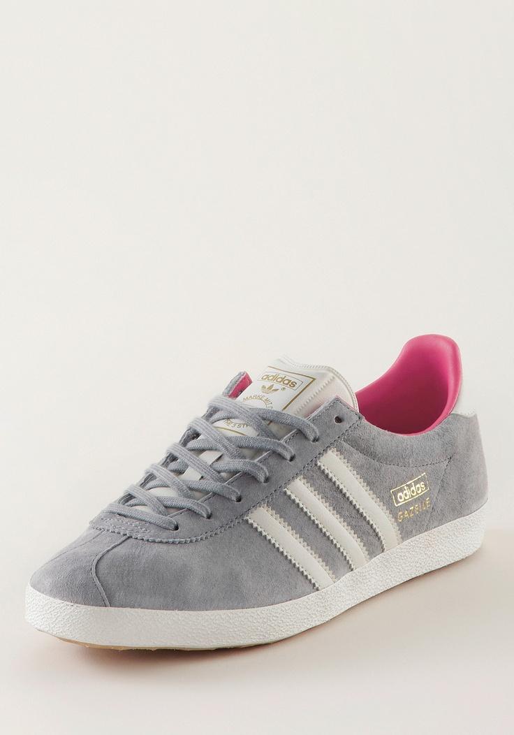 adidas gazelle og suede grey pink white fashion sneaker. Black Bedroom Furniture Sets. Home Design Ideas