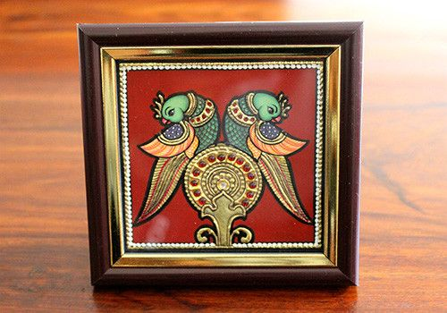 Tanjore Peacock Painting – Desically Ethnic