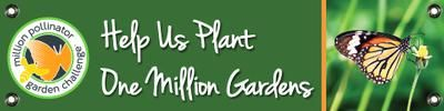 Million Pollinator Garden Challenge Sign - Butterfly48-inch x 12-inch coroplast sign printed single sided