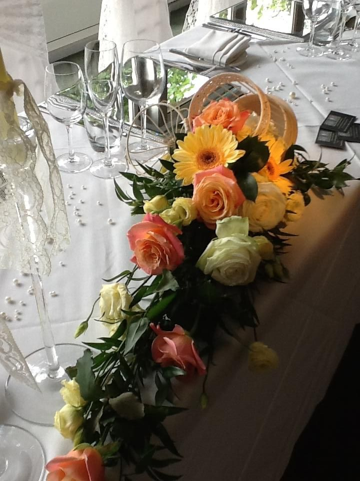 Top Table Flowers with bird cages