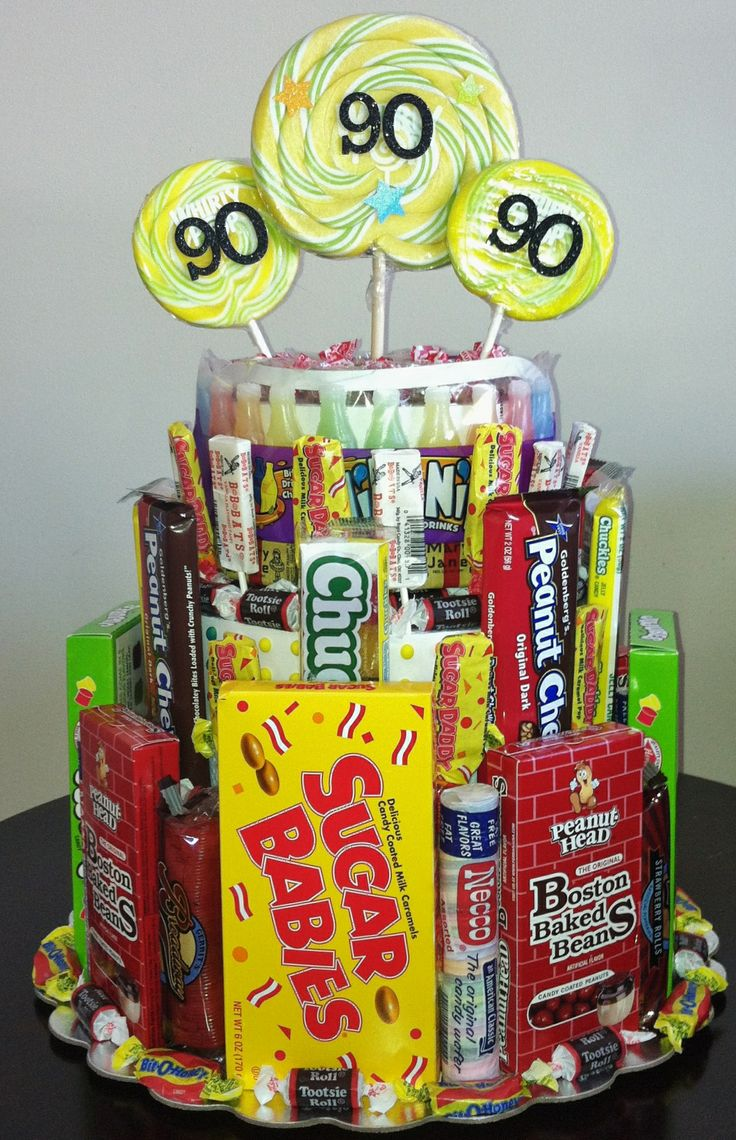 90th Birthday Centerpiece! Filled with Candy from the 1920's! 90th Birthday Party!