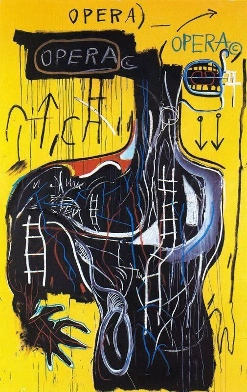 Jean-Michel Basquiat - Anybody Speaking Words, 1982, mixed technique WOW...we're studying him in art right now. #whaddup