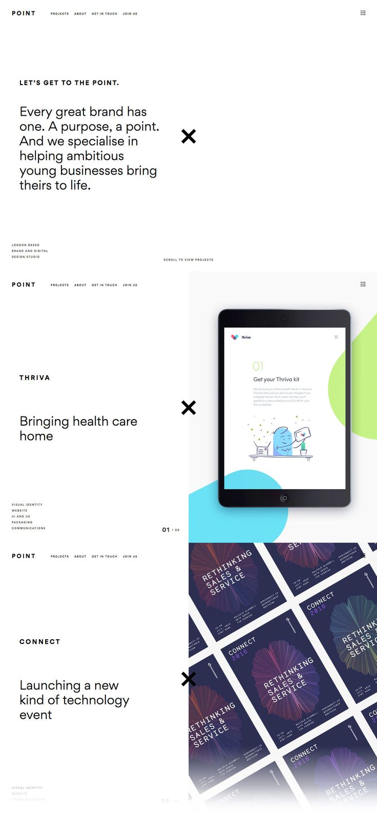 Point (More web design inspiration at topdesigninspiration.com) #design #web #webdesign #sitedesign #responsive #ux #ui