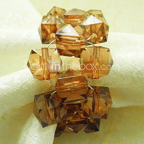 Crystal perler Wedding Serviett Ring Set Of 12, akryl Dia 4,5 cm - NOK kr13