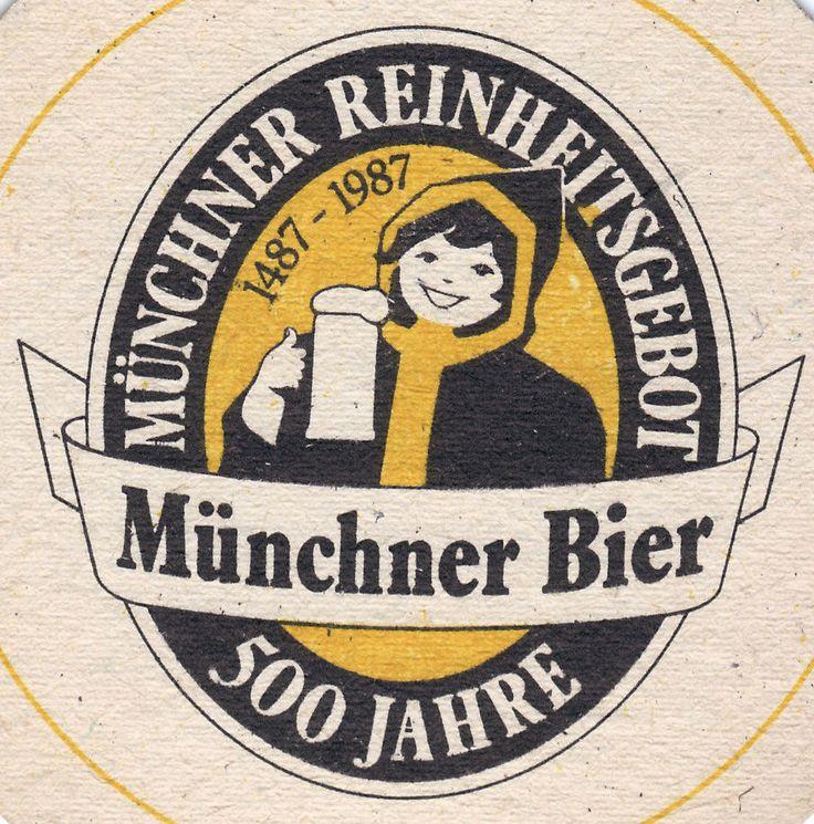 Münchner Reinheitsgebot Bier Coaster