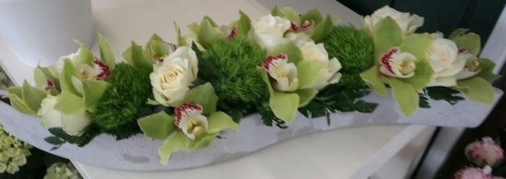 groen en wit   een tafelstukje   Van Hemelrijck Dana