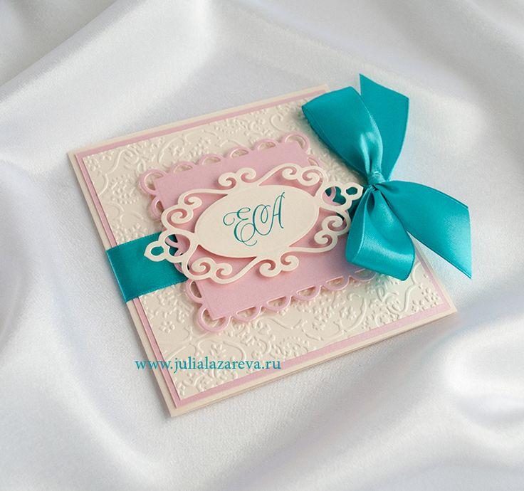 """Приглашение на свадьбу """"Розовая лазурь"""" #wedding #weddinginvitation #invitation #card #pinkwedding"""