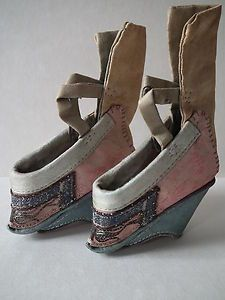 Antique Chinese Lotus Shoes for Bound Feet.  How awful it must have been to wear these.