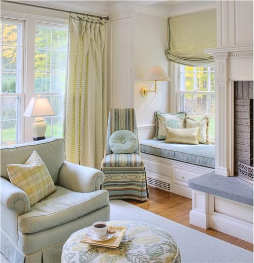 Casual Traditional Living & Family Room by Karen Watson on HomePortfolio