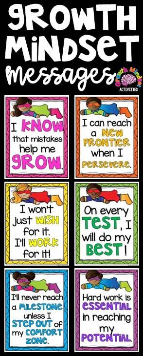 Growth Mindset Posters (superhero theme) for Grades 2-5