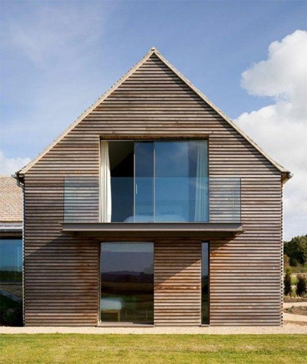 Fassadengestaltung Einfamilienhaus vorgartengestaltung pflanzen gras rasen