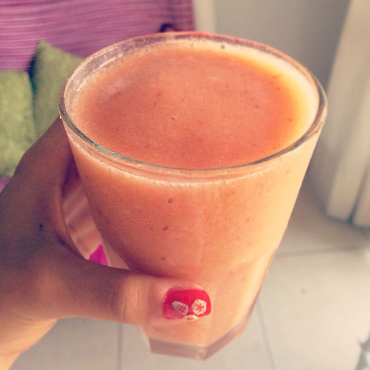 Strawberries + peach =