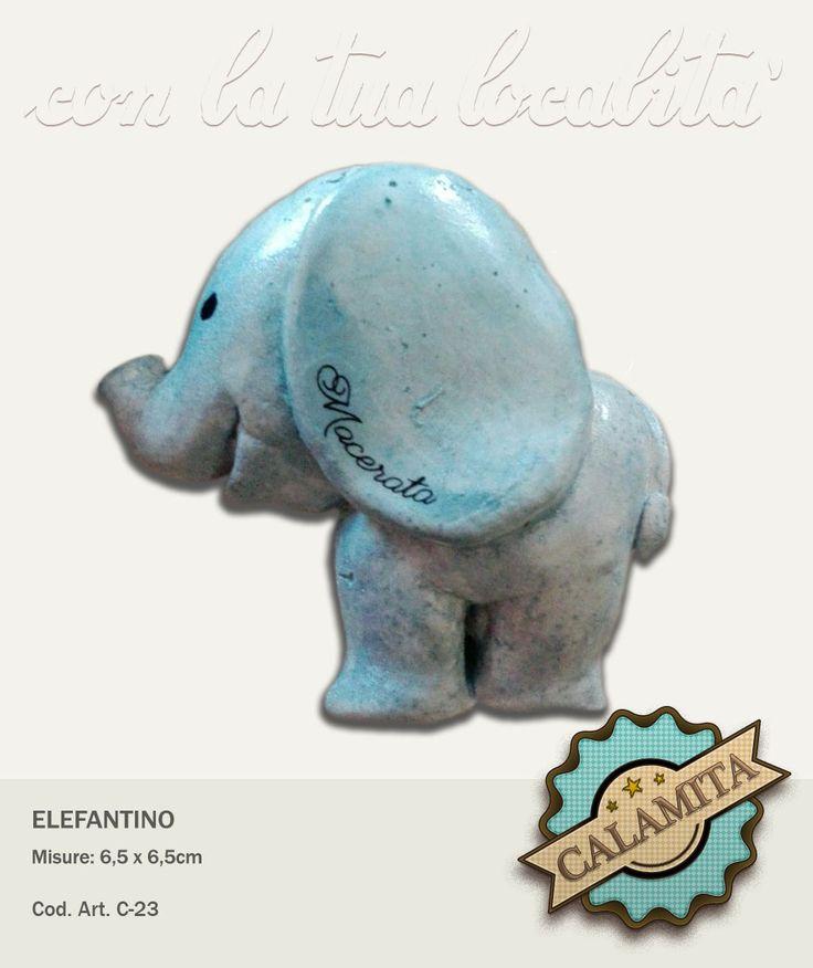 Elefantino calamita. Personalizzabile.