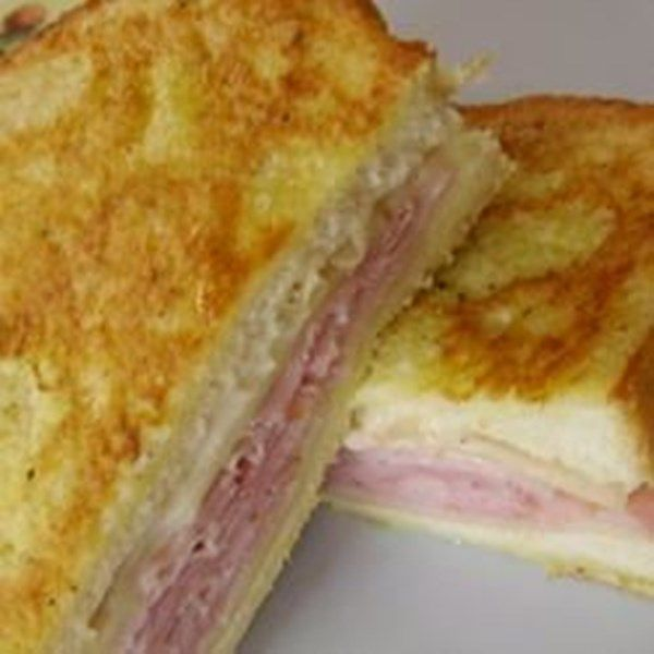 A yummy twist on the old fashioned toasted cheese sandwich. My aunt used to make these for me for lunch when I spent the summers with her.