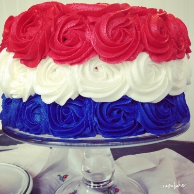 Let them eat CAKE | This Australia Day Im going to do a lamington and cream sponge cake (minus the coconut) with this red, white and blue icing and see if I can find some matching candy stars to add as well! :)