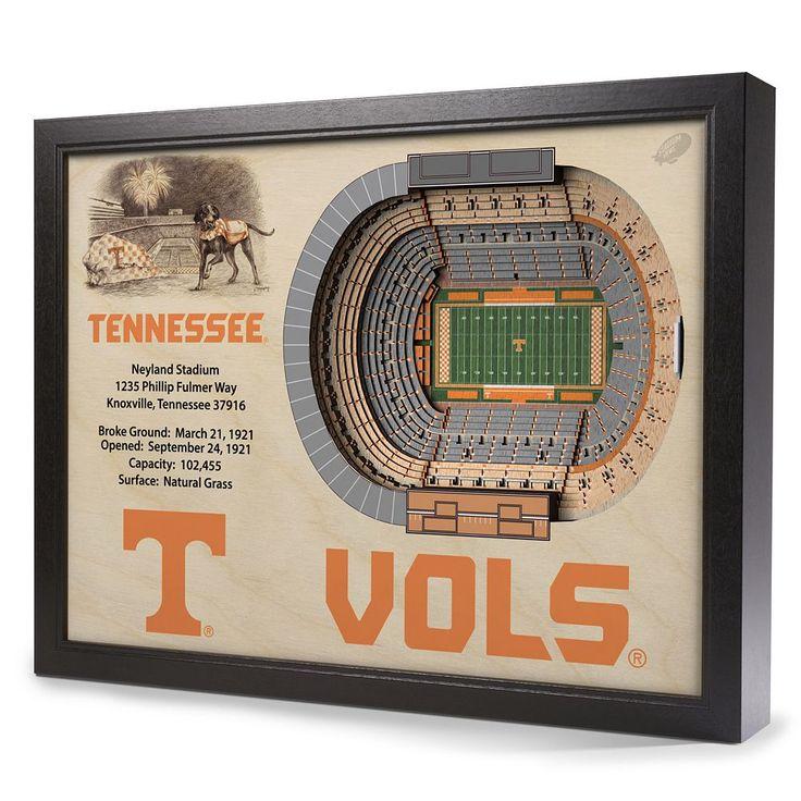 Tennessee Volunteers StadiumViews 3D Wall Art, Multicolor