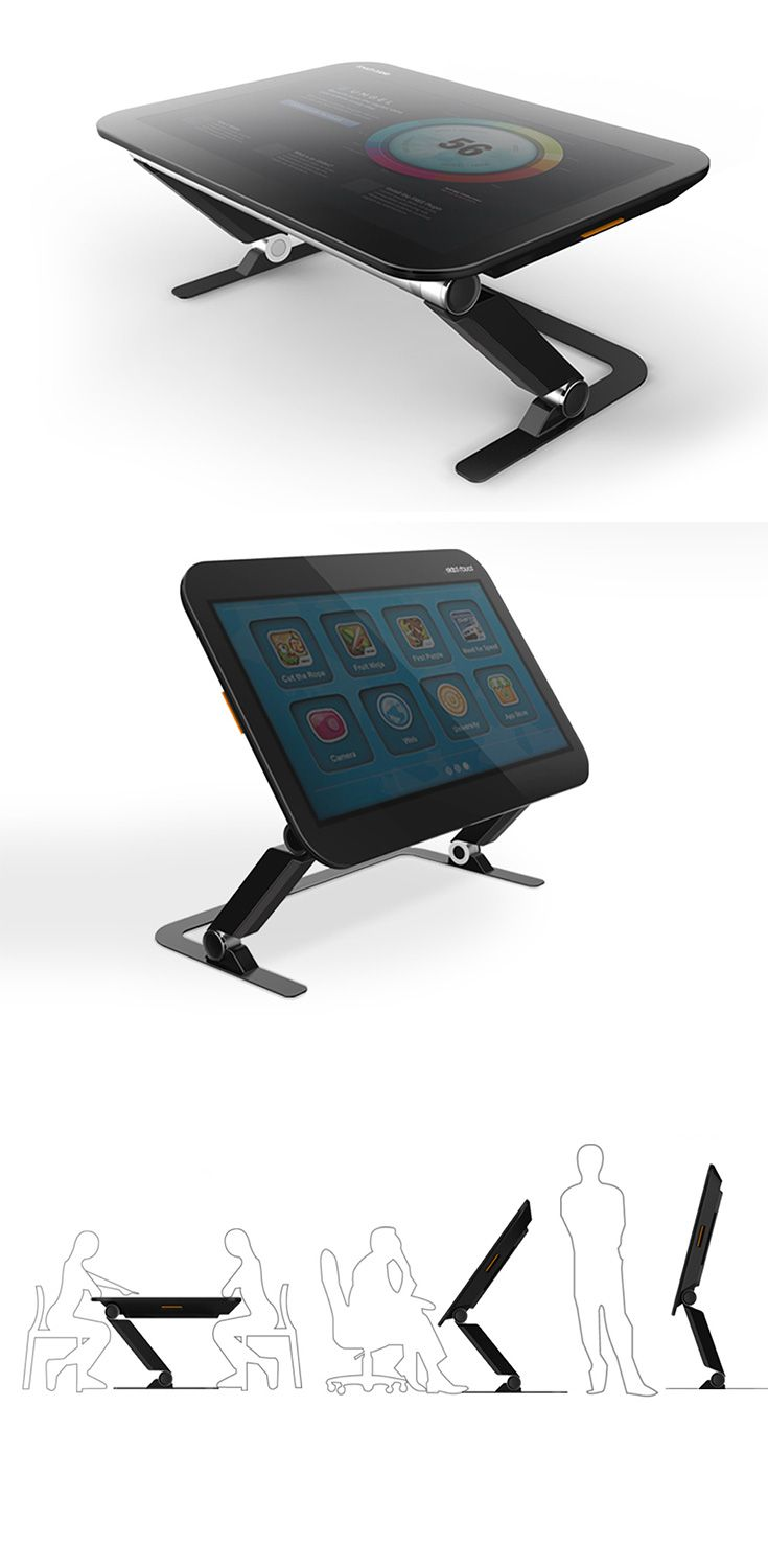 The 'CROSS2DESIGN' Smart Table is an interesting marriage of two unlike objects, its a hybrid table and tablet in one, inspired by robotic legs, it also  transitions between horizontal and vertical with the touch of a button for presentations, movies and more... READ MORE at Yanko Design !