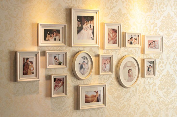 UK White Wooden Multi Picture Photo Frame - Chic Shabby Large 13 Collage Natural