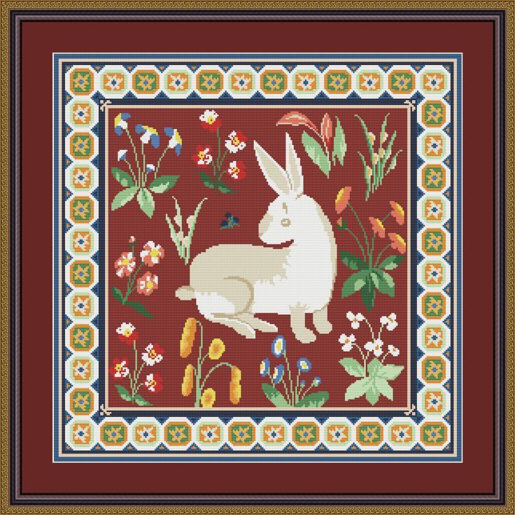 Подушка Средневековый кролик в ДМС