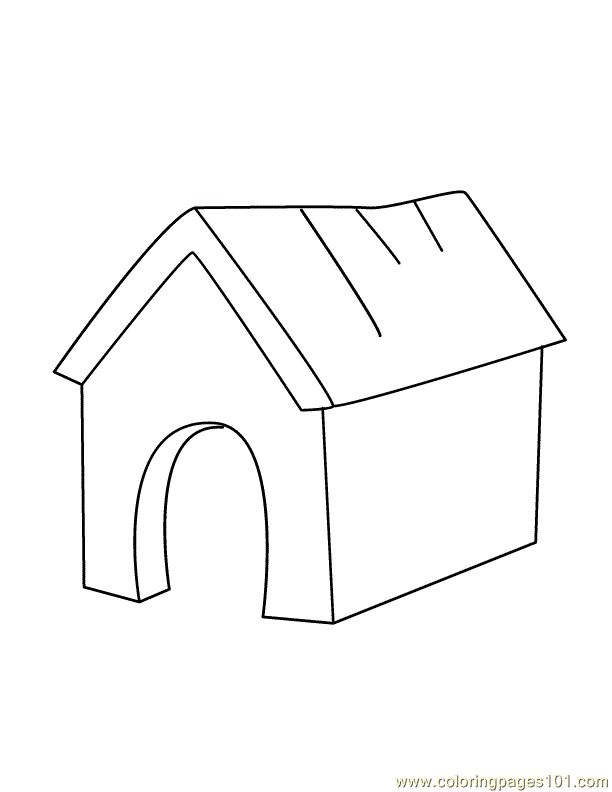 Dog House Cartoon Hand Drawing