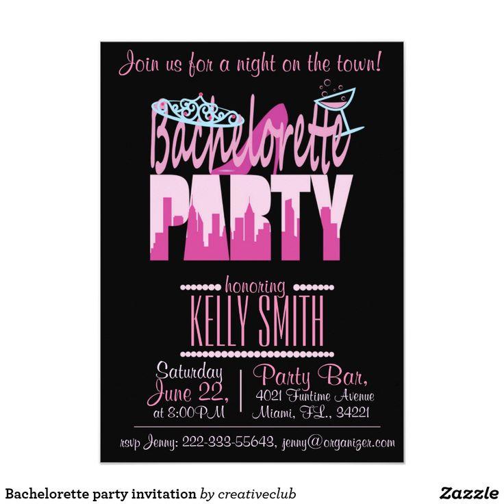 zazzle wedding invitations promo code%0A from Zazzle    Bachelorette party invitation